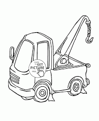 small crane truck coloring page for kids transportation coloring