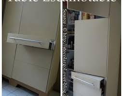table cuisine escamotable tiroir table de cuisine escamotable dans tiroir de