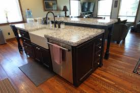 kitchen island with raised bar affordable custom cabinets showroom
