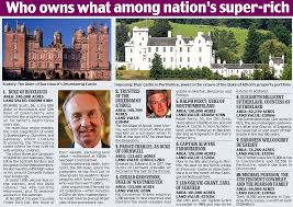 a third of britain still belongs to the aristocracy daily mail