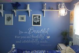 religious spiritual decals trading phrases you are beautiful fearfully wonderfully made wall decal