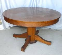 Antique Pedestal Dining Table Voorhees Craftsman Mission Oak Furniture Original Vintage Gustav