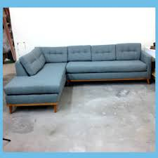 Blue Chesterfield Leather Sofa by Sectional With Movable Chaise Tiffany Blue Leather Chesterfield
