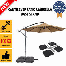 Patio Umbrella Wedge Unbranded Plastic Garden U0026 Patio Umbrella Stands Ebay
