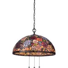 tiffany glass pendant lights quoizel stephen collection tiffany glass tfst2840vb monman