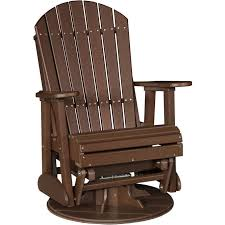 Recycled Plastic Rocking Chairs Luxcraft Adirondack 2 Recycled Plastic Swivel Glider Rocking