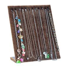 jewelry necklace holder stand images Funique fashion flannel necklace display stand jewelry organizer jpg