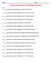 translating verbal expressions into algebraic expressions worksheets translating verbal expressions worksheet findcheapbargains