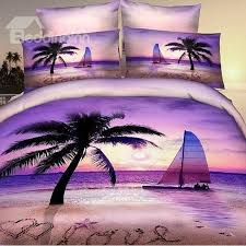 new arrival 100 cotton palm beach sea of love 4 piece bedding