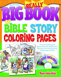 the really big book of bible story coloring pages with cd rom