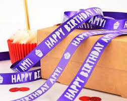 birthday ribbons birthday ribbon etsy