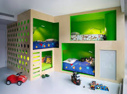 bedroom cheerful decoration in bunk bed for kids room with
