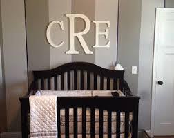 Baby Monogram Wall Decor Initials Wall Decor Etsy