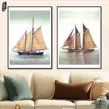 decoration de bateau achetez en gros bateau u0026agrave voile affiche en ligne à des