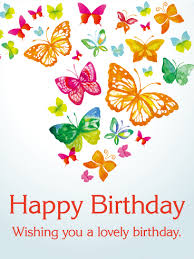 rainbow colored butterfly birthday card birthday greeting