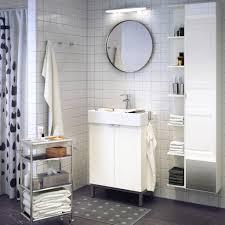 Ikea Bath Vanity by Ikea Vanity Set Metal Pull Bars White Varnished Wooden Vanity