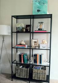 ikea vittsjo bookcase in the living room storage without a heavy