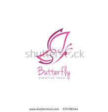creative butterfly concept logo design template stock vector