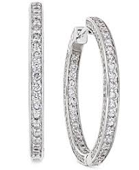 small diamond hoop earrings diamond hoop earrings shop diamond hoop earrings macy s
