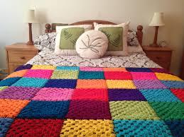 black u0026 bright rainbow single crochet blanket or double king size