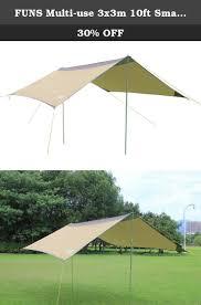Moto Shade Replacement Canopy by Funs Multi Use 3x3m 10ft Small Sun Shelter Tarp Rain Tarp