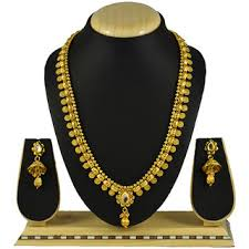 earring necklace set images Buy pourni traditional lang necklace set with earring for bridal jpg