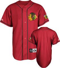 chicago blackhawks jersey scarlet nhl replica baseball jersey