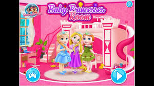 baby princess elsa anna rupanzel room cleaning and decoration