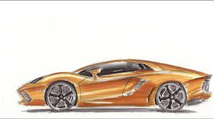 lamborghini aventador sketch car drawing lamborghini aventador 2015 youtube