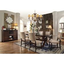 riverside bedford 7 piece dining table set with dover white