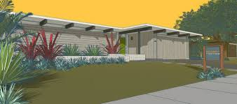 exterior mid century eichler homes with green grass for inspiring
