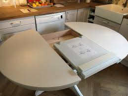 ikea ingatorp white round extendable table in pewsey wiltshire