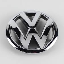 volkswagen logo black and white oem chrome silver front grille grill emblem badge replacement for