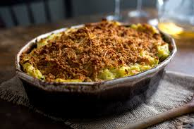 thanksgiving potato casserole mashed potato casserole with sour cream and chives photo andrew