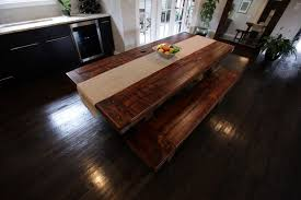 rustic dining room table bench video and photos madlonsbigbear com