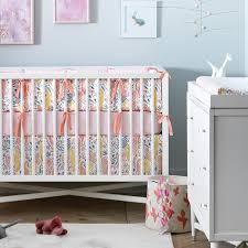 Dwell Crib Bedding On Sale Boheme Reversible Percale Crib Bumper By Dwellstudio