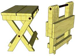 Wood Folding Table Plans Folding Stool Craft Ideas Pinterest Woodworking Stools And
