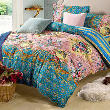 luxury teal pretty floral queen size duvet covers obd081431