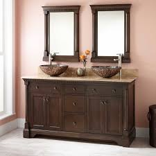 vessel sink vanity antique coffee with optional mirror