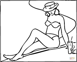 clothes coloring pages a woman near the pool coloring page free printable coloring pages