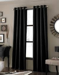 outstanding modern black curtains design ideas with chrome curtain