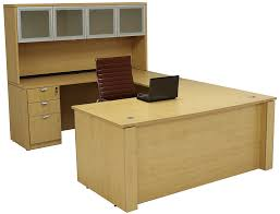 U Shaped Executive Desk Height U Shaped Executive Office Desk W Hutch In Maple