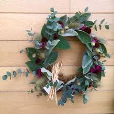 electric flower farm wreaths foliage