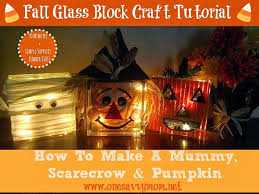 How To Decorate Glass Blocks One Savvy Mom Nyc Area Mom Blog Fall Glass Block Craft