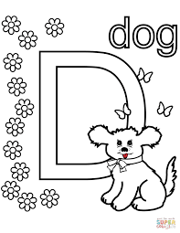 d is for dog coloring page free printable coloring pages