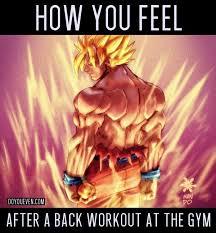 Dbz Gym Memes - dbz back day buscar con google anatom祗a humana pinterest
