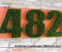 new design letter decorative wall for home artificial grass wall