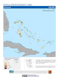 Bahama Islands Map Maps Population Density Grid V1 Sedac