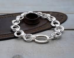 chain link bracelet sterling silver images Chain link bracelets etsy ca jpg