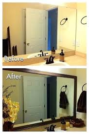 diy bathroom mirror ideas framed bathroom mirrors diy bathroom mirror ideas frame mirror in